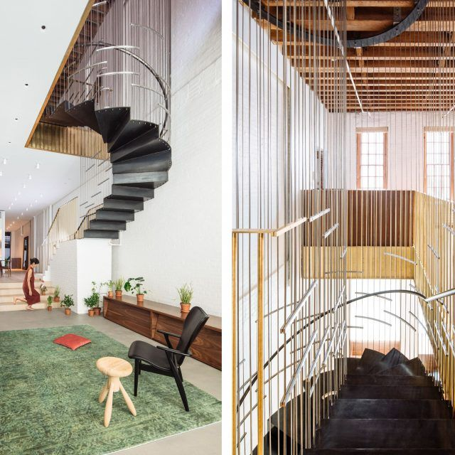 In Tribeca's 'Raft Loft' a hanging, architectural staircase joins two apartments