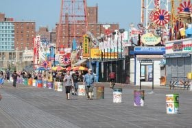 coney island, boardwalk