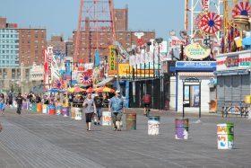 coney island, boardwalk
