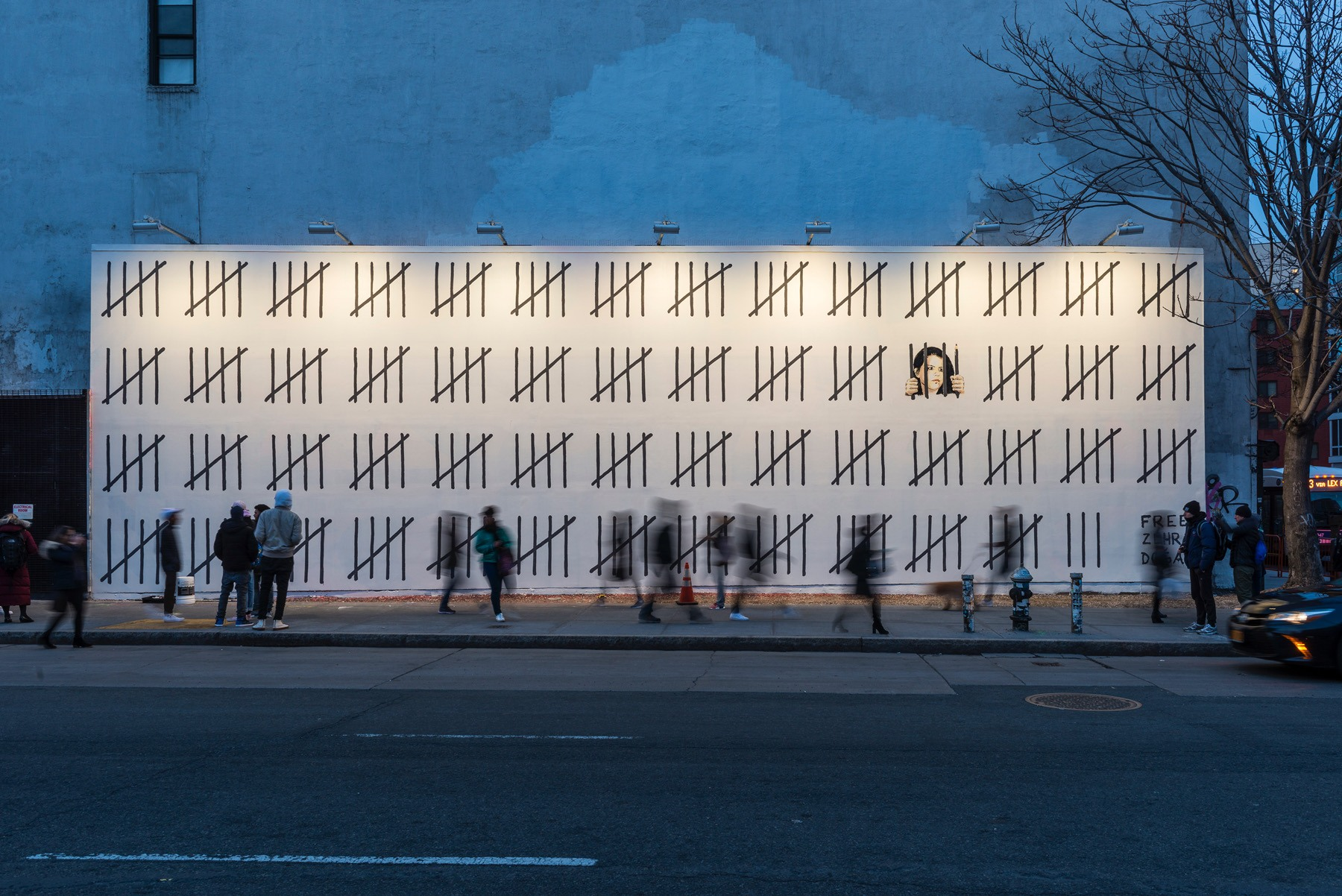 Banksy unveils mural at historic houston bowery wall for Bowery mural nyc