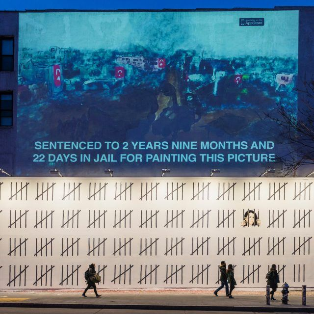Banksy unveils mural at historic Houston Bowery Wall protesting Turkish artist's imprisonment