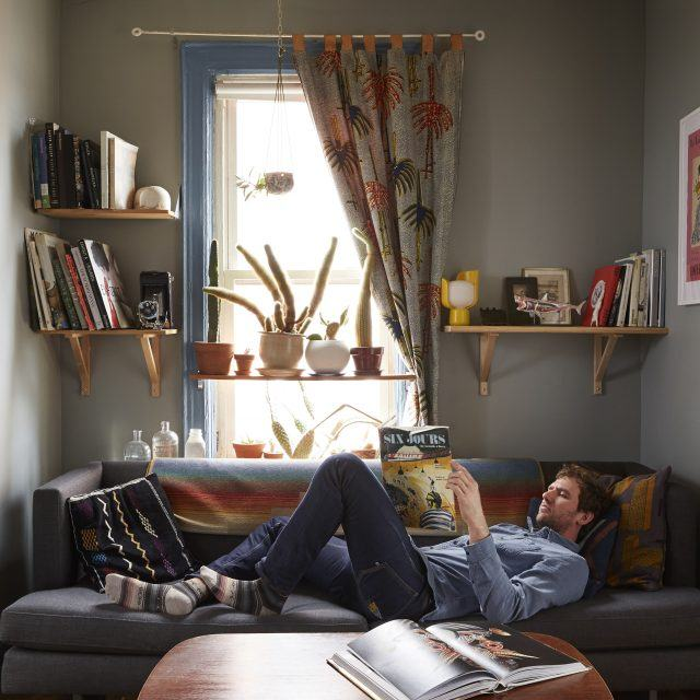 My 330sqft: A Greenpoint photographer does 'grandpa cool' in his earthy pad