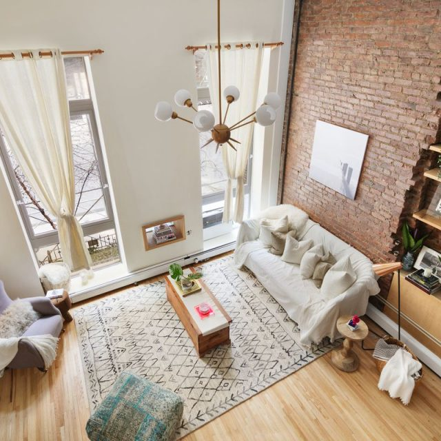 $995K Flatiron co-op has a sophisticated entertaining space downstairs and a cozy loft above