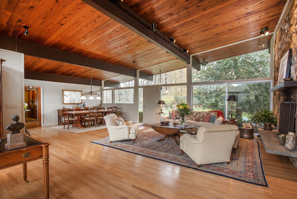 Live in a classic mid century modern home on three acres - Mid century modern interior ...