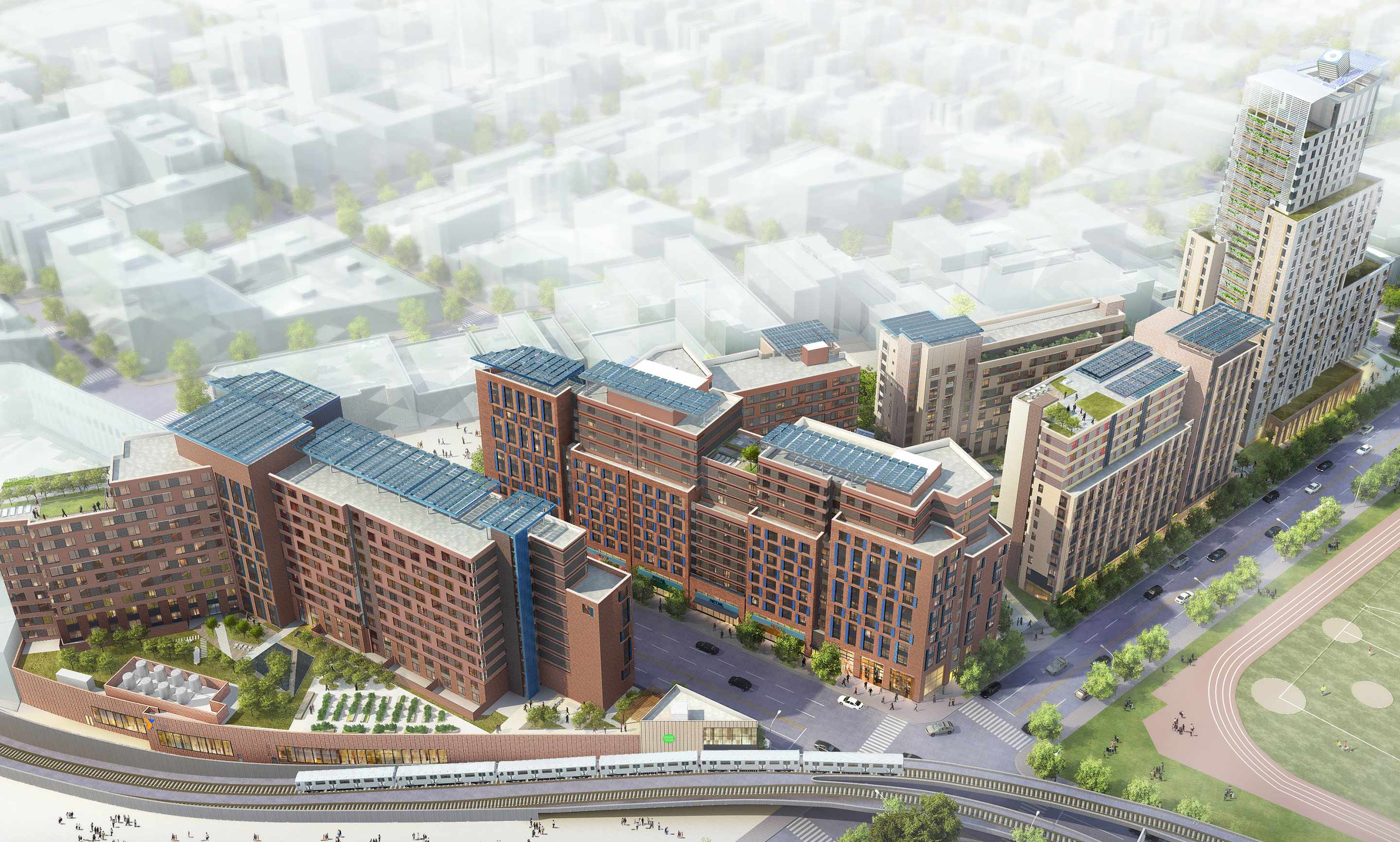 la central, affordable housing, bronx, lambert houses, FXFowle