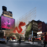 Canal Street Triangle, ODA Architects, Dragon's Gate, Chinatown Pavilion, public art NYC