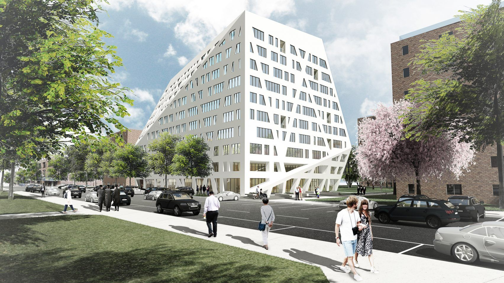 New renderings revealed for daniel libeskind s affordable for Affordable building