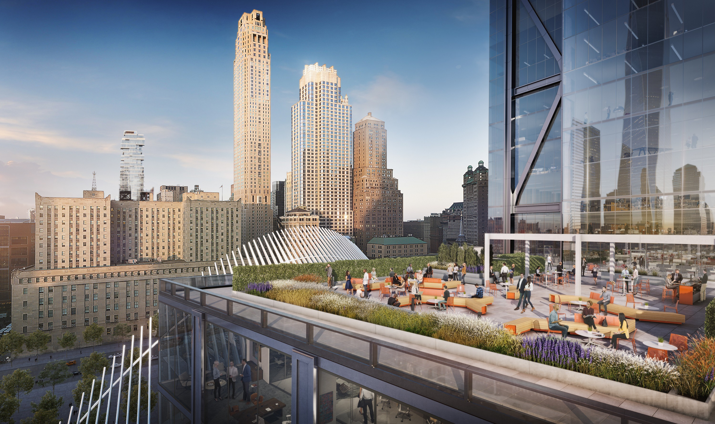 Home Spa Design Ideas: First Look At 3 World Trade Center's Huge Outdoor Terrace