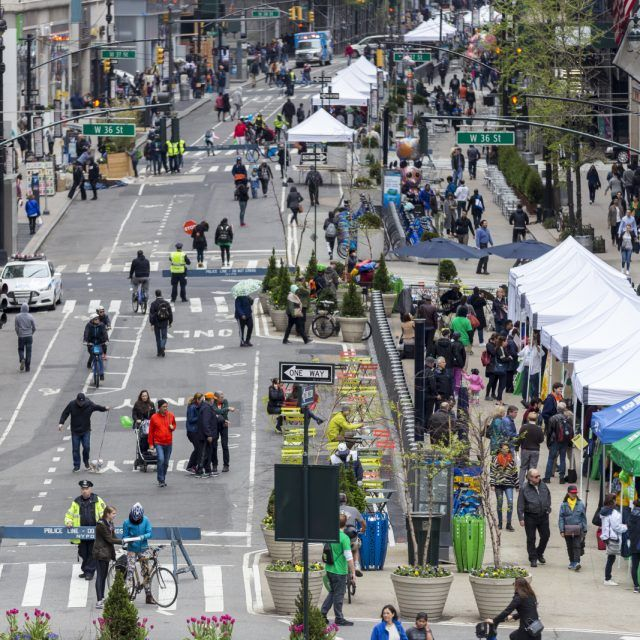 Parts of every NYC borough will go car free next weekend for Earth Day