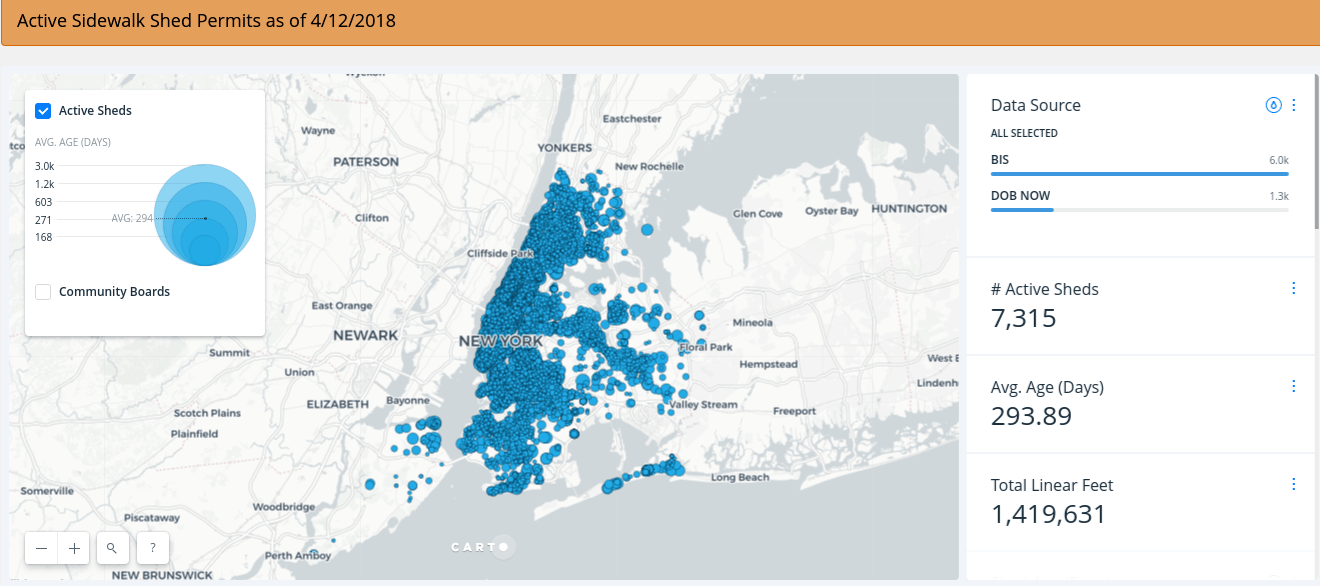 Interactive Map Of New York City.Interactive Map Tracks New York City S 270 Miles Of Sidewalk Sheds