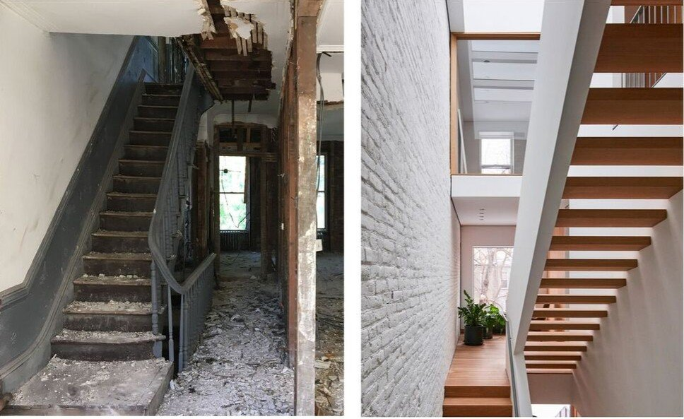 L And A Transforms A Dark Bed Stuy Row House Into A Spacious Sun Drenched Dream 6sqft