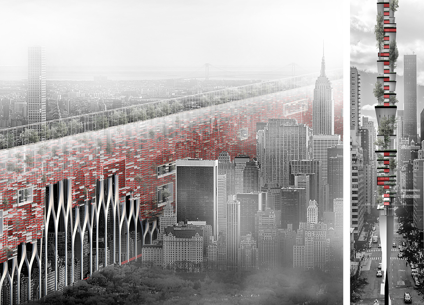 skyscraper proposal adds affordable housing in a new vertical system