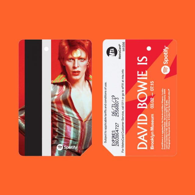 In partnership with Spotify, MTA releases limited number of David Bowie MetroCards