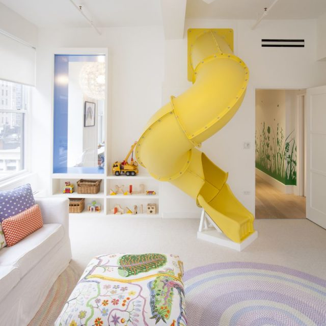 This $7M Nomad loft has a rock-climbing wall, spiral slide, and zip line