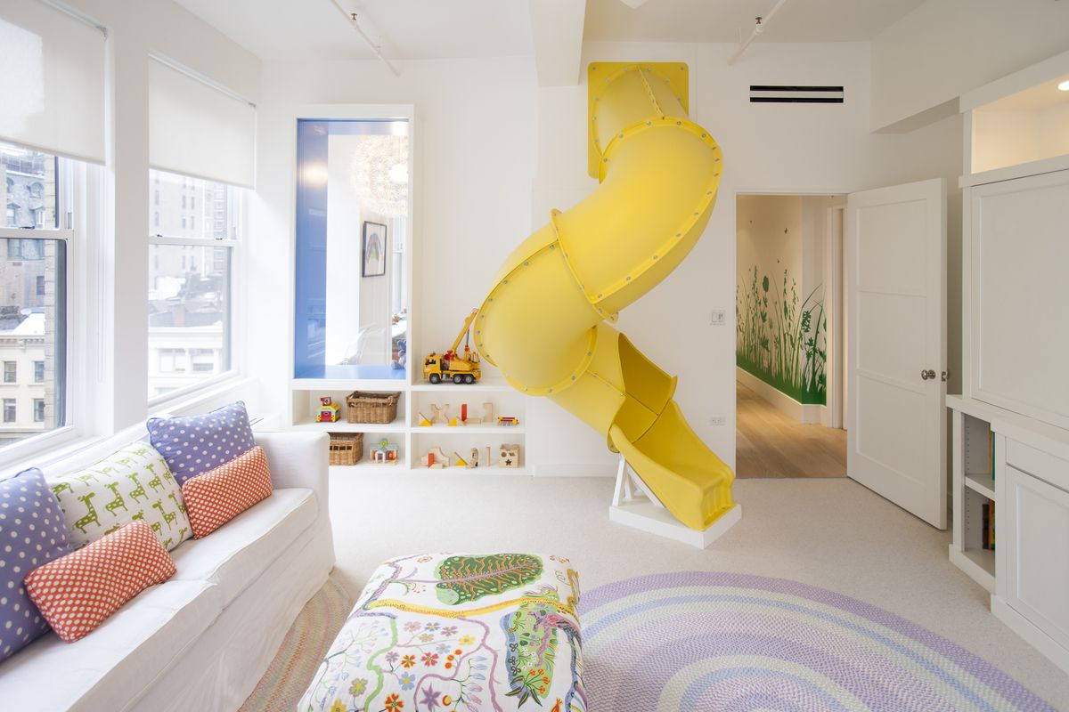This $7M Nomad loft has a rock-climbing wall, spiral slide, and zip ...