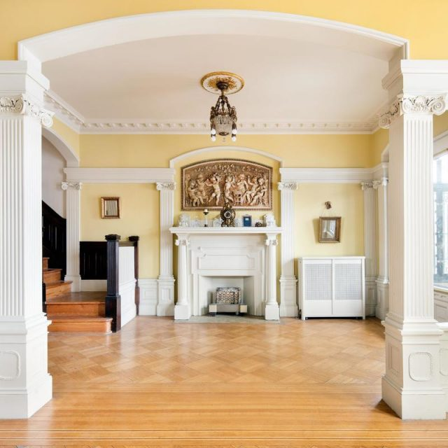 Limestone mansion with a sunroom and garage in Prospect Lefferts Gardens asks $4M