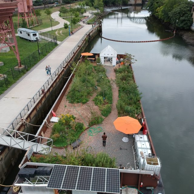 A public floating food forest will come to the Brooklyn Army Terminal this summer