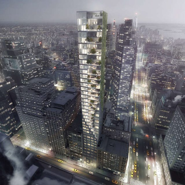 34th Street tower proposal calls for a facade of twisting balconies