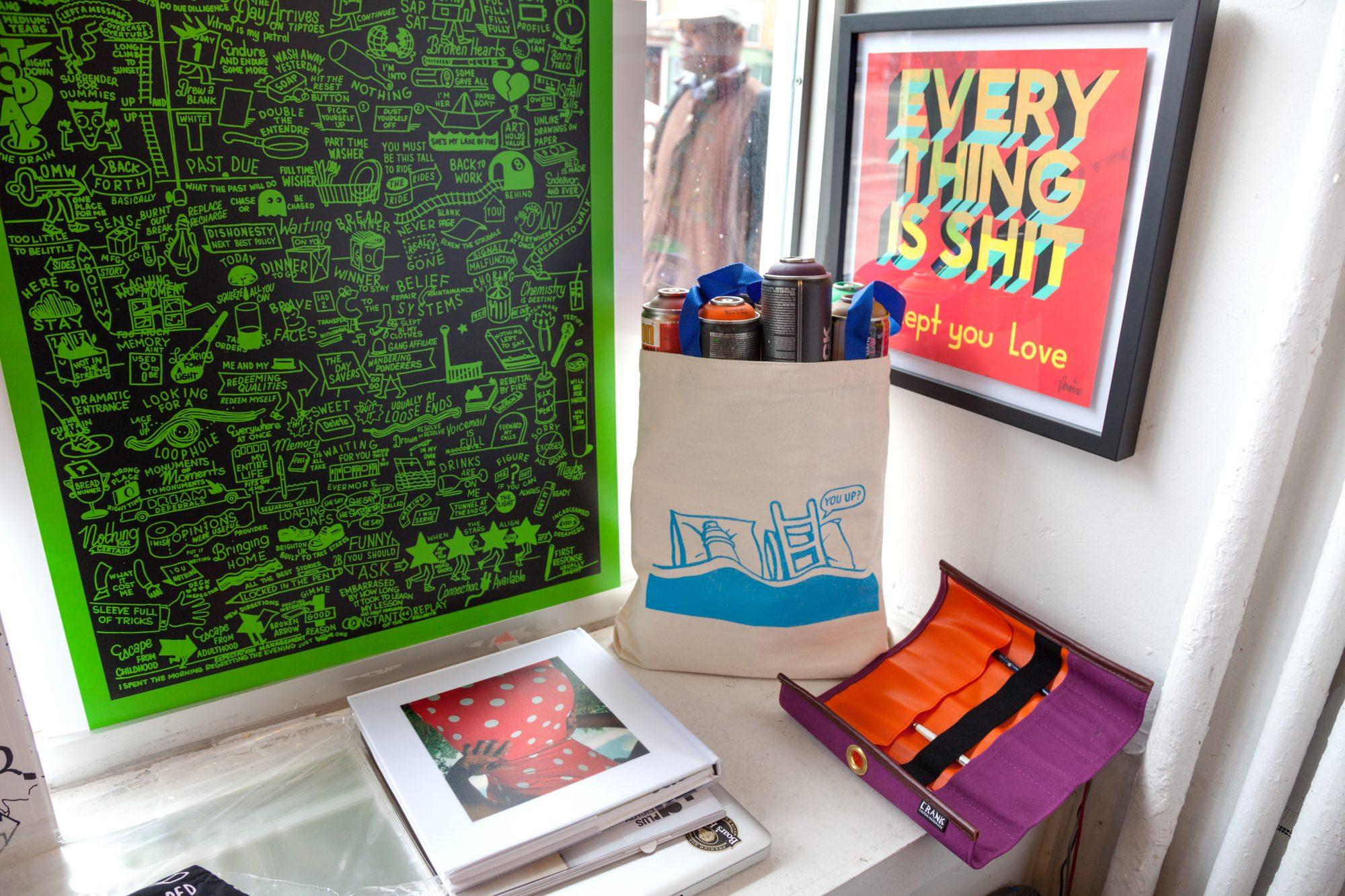 Where I Work Inside Stephen Powers Colorful World Of Studio Art