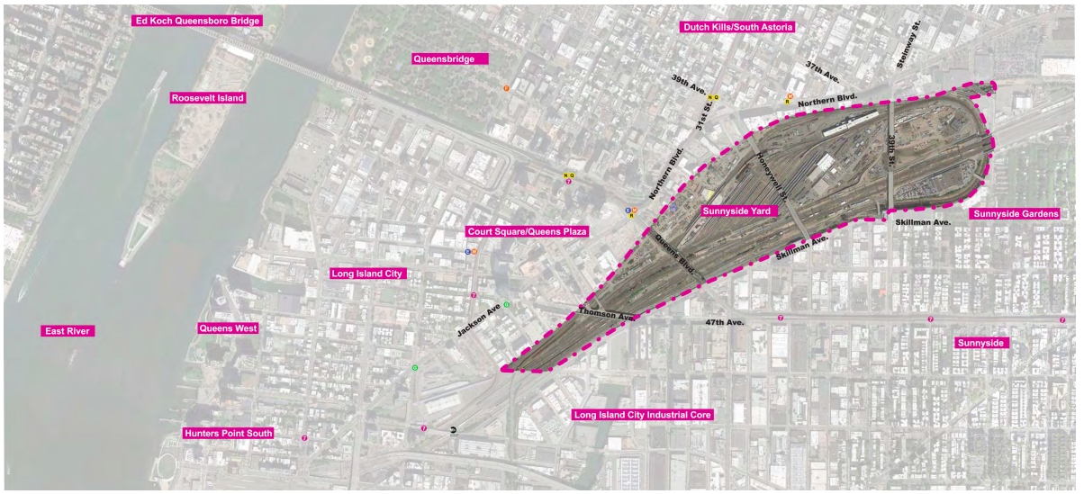 Sunnyside-Yard-map Master planning for huge Sunnyside Yard project to begin this summer