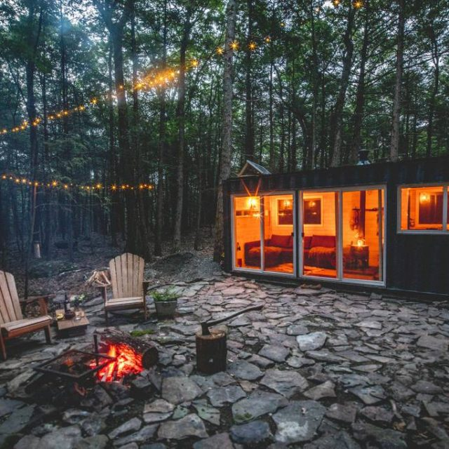 Go off the grid in a Catskills shipping container for $165 per night