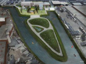 Gowanus Salt Lot Public Park. Gowanus by Design, Gowanus Canal Conservancy, Gowanus public park