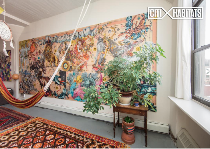 $3,800/month Williamsburg loft will let you buy all its cool art