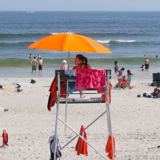 Ahead of Memorial Day Weekend, the city closes 11-block stretch of Rockaway beach