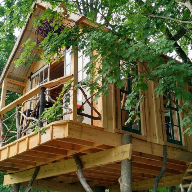 Go camping among the trees in this $195/night treehouse in Upstate New York