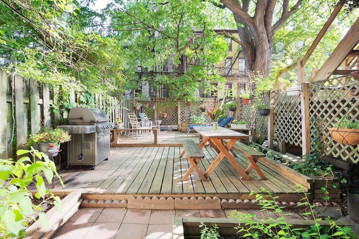 The backyard at this $1.2M Park Slope co-op is perfect for ...