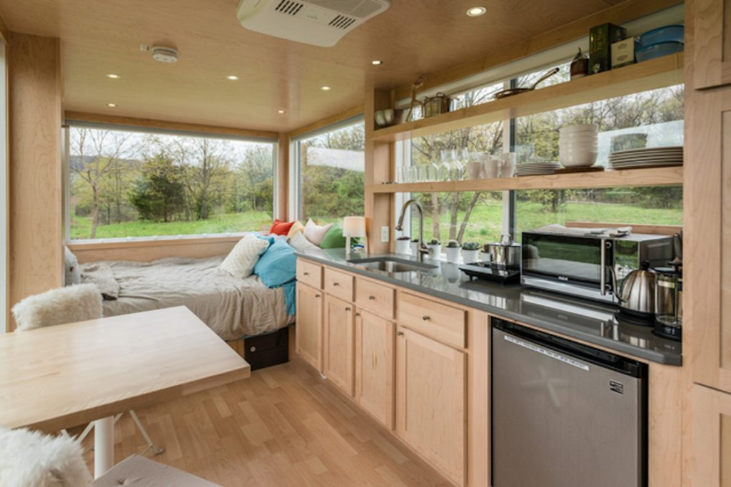 Glass house glamping