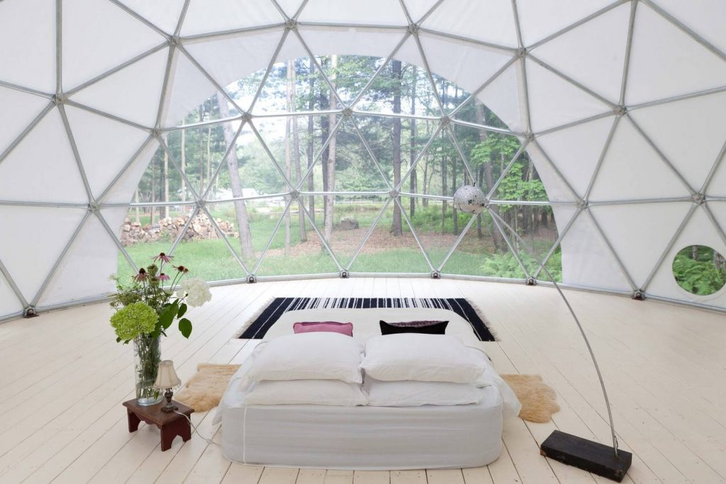 Geodome glamping