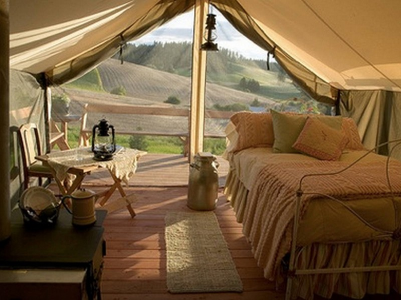cozy canvas glamping