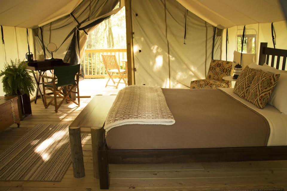 cozy safari tent