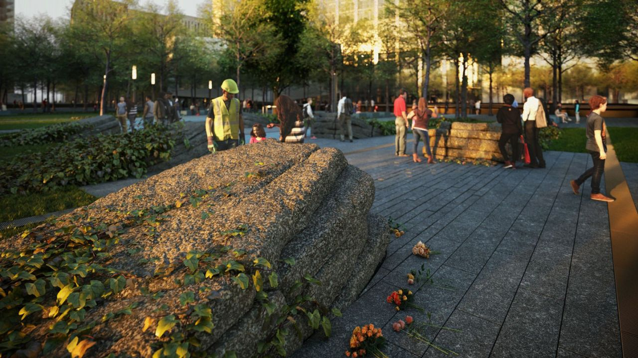 9/11 Memorial, Memorial Glade, 9/11 toxins, MOSO Studio, 9/11 post-attack victims