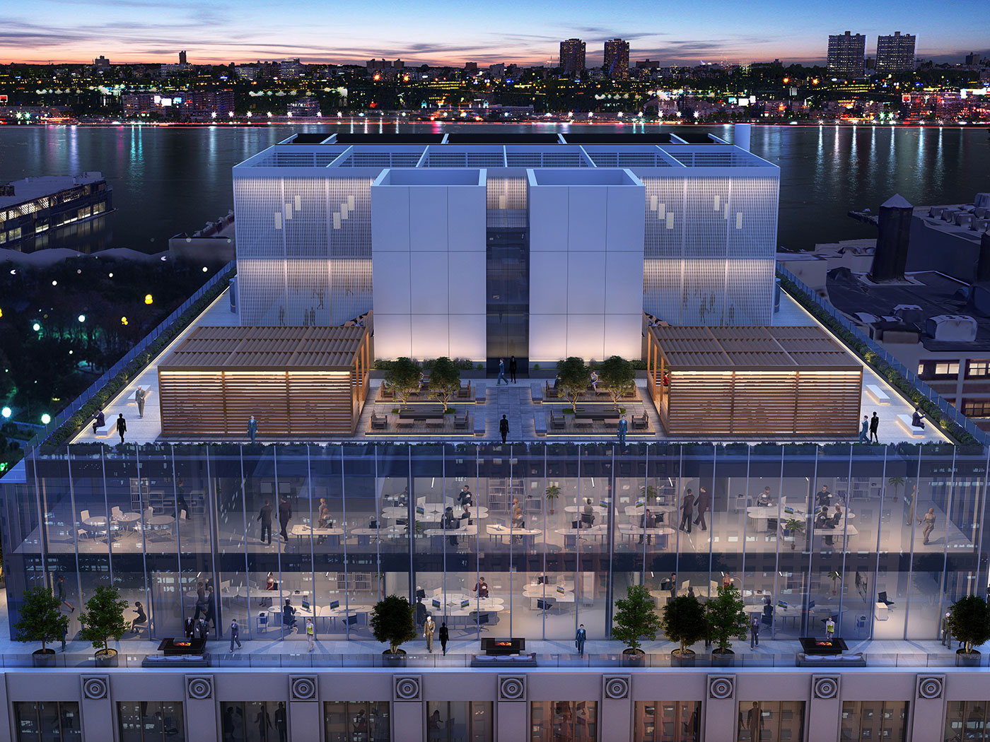 3cdbb832875a Rafael Viñoly reveals new renderings of  Auto Row  office addition ...