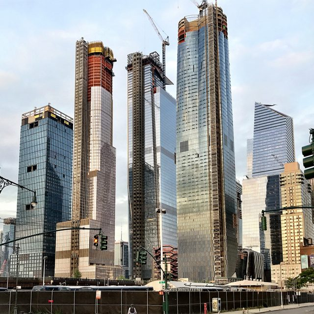 Reaching over 1,000 feet, 35 Hudson Yards tops out as the mega-project's tallest residential building