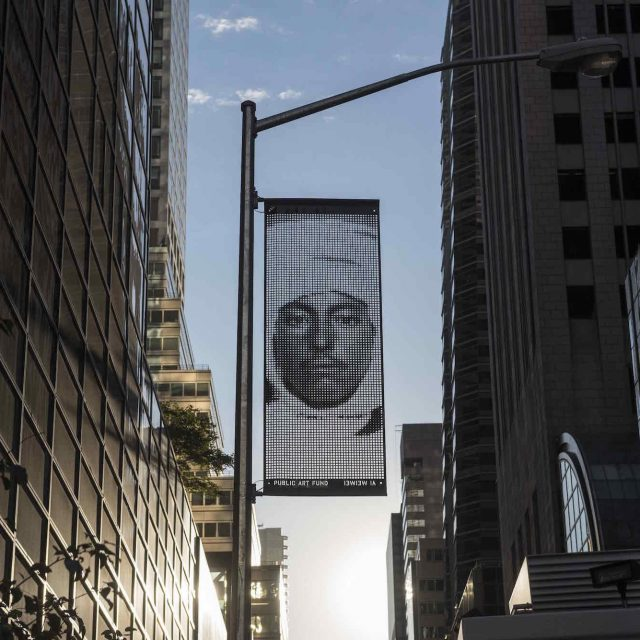 Portrait banners from Ai Weiwei's NYC 'Fences' project available for sale to benefit refugee charities