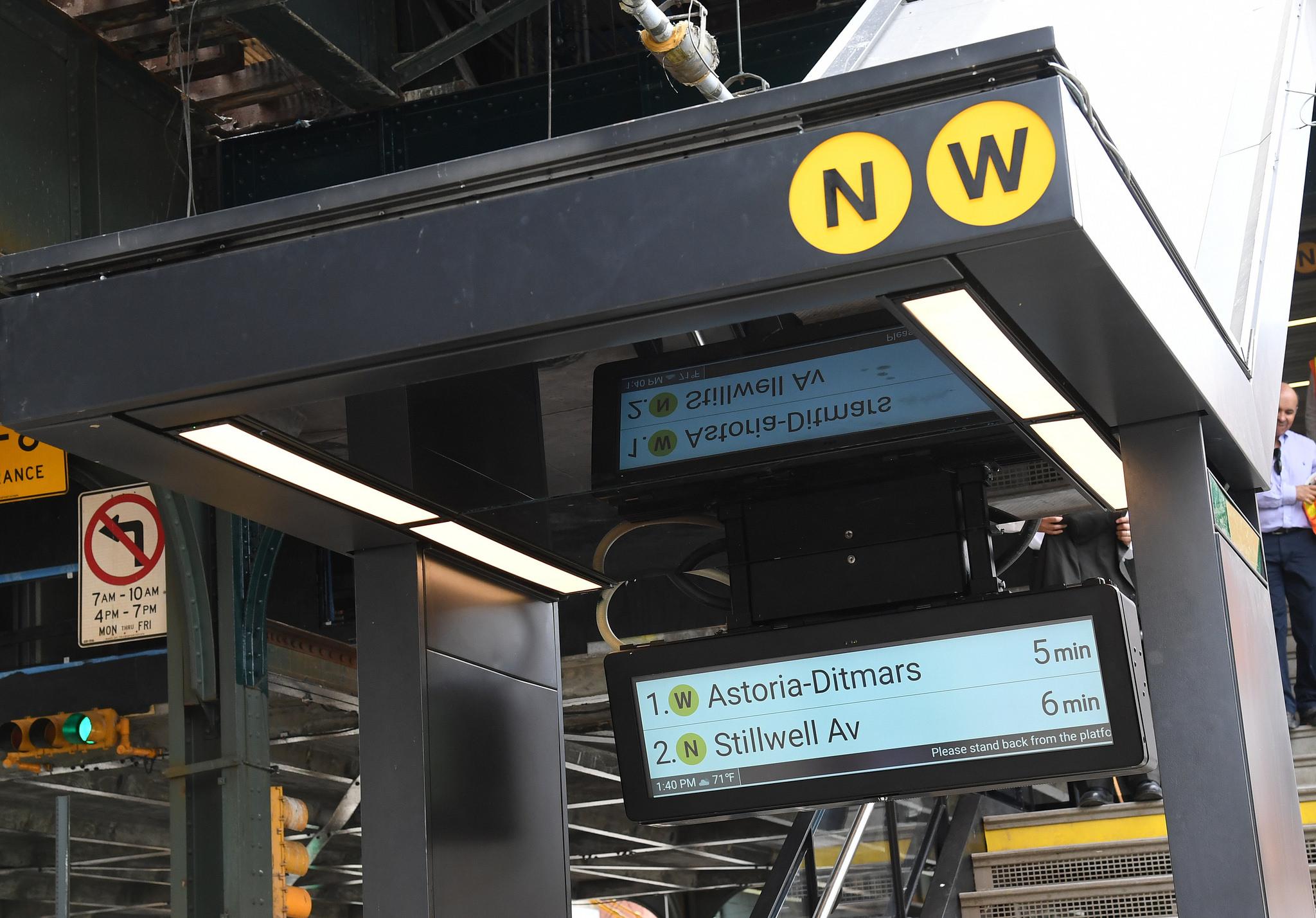 30 Av 36 Av Astoria reopening, NYC subway