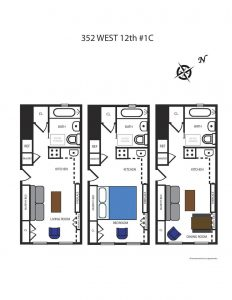 352 west 12th street, west village, micro apartment, design, architecture, interiors,