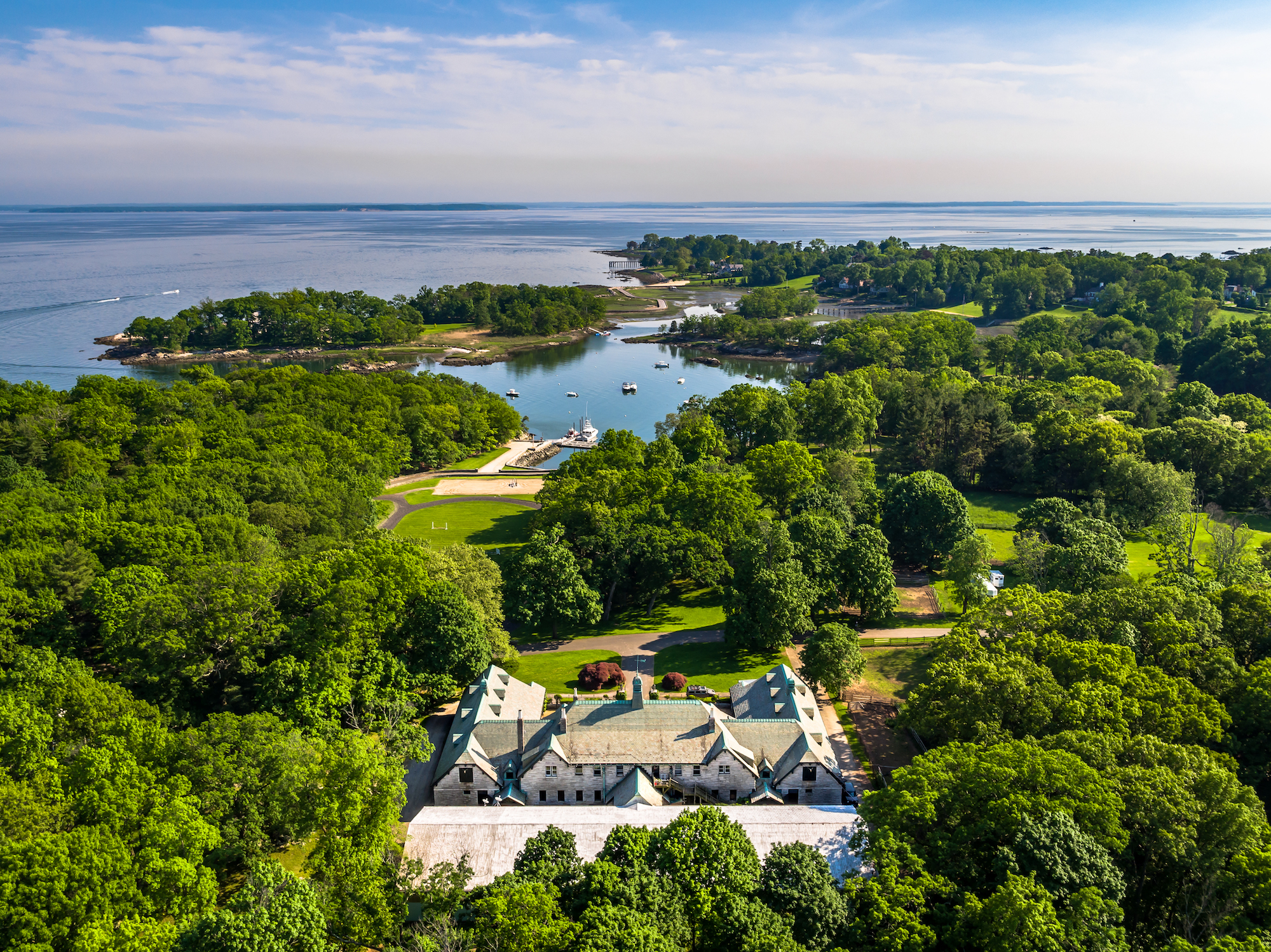 private 63 acre connecticut island is on the market for the second