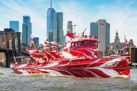 Dazzle Ship, World War I, NY Harbor, Tauba Auerbach, Public Art Fund