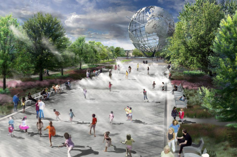 New York State Pavilion, Fountain of the Fairs, Queens, Philip Johnson
