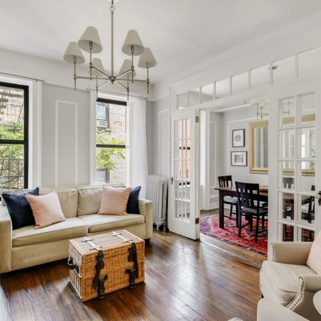 Asking $740K, this big, bright Morningside Heights co-op has character but could use another bathroom