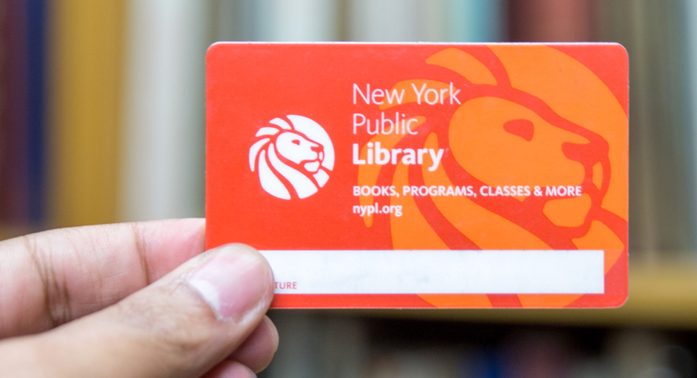 NYC library card, NYPL