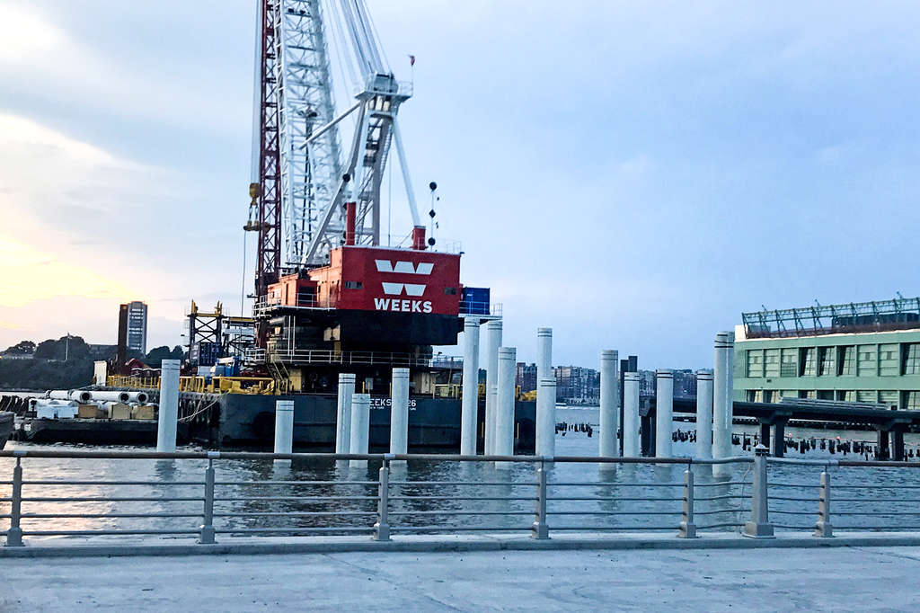 Photos Pier 55 S Undulating Support Structure Takes Shape