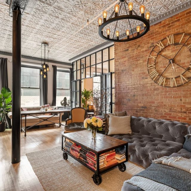 $1.8M Chelsea loft is industrial meets country-chic with tin ceilings and cast-iron columns