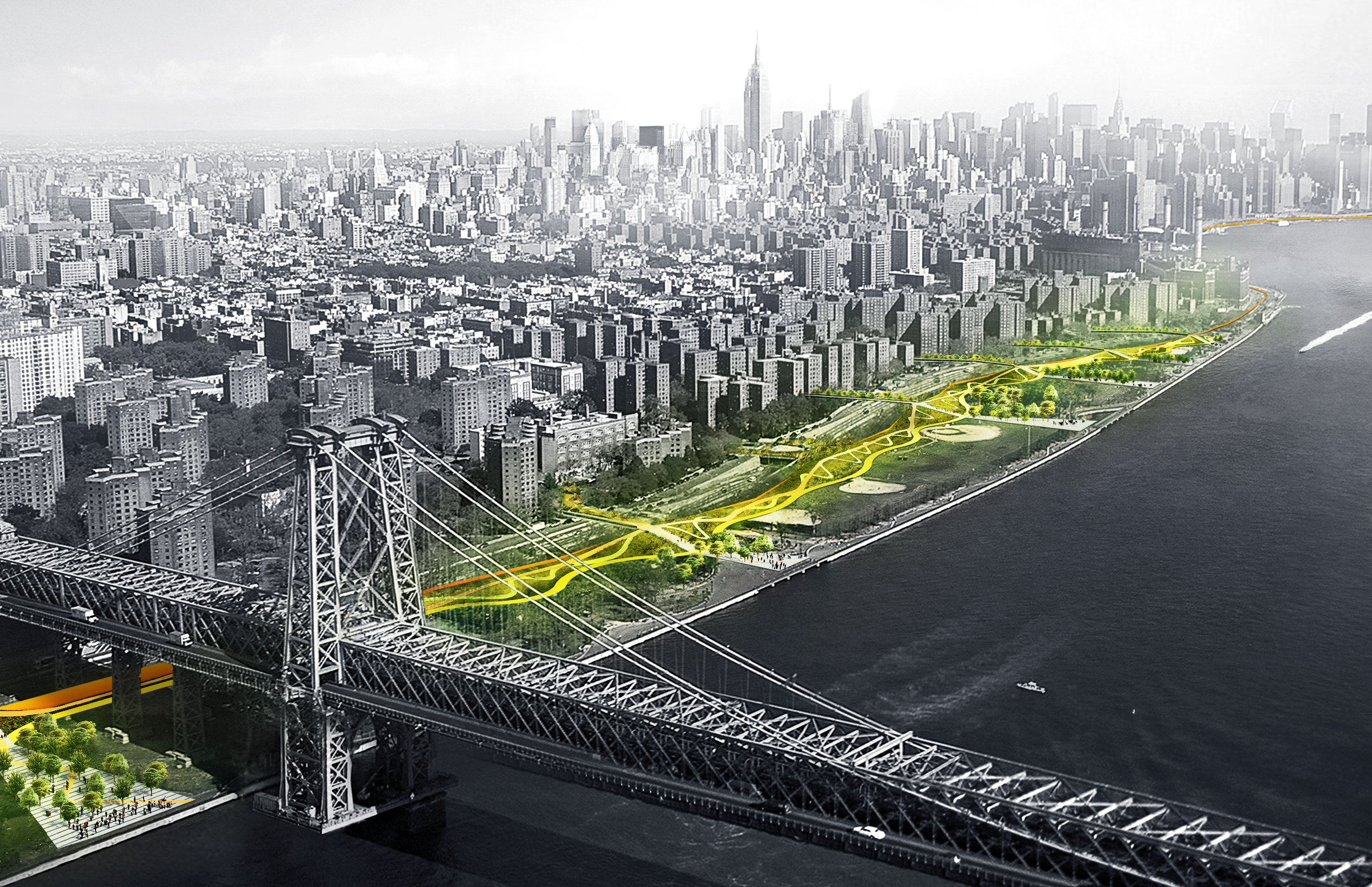 First phase of Bjarke Ingels' BIG U storm protection system