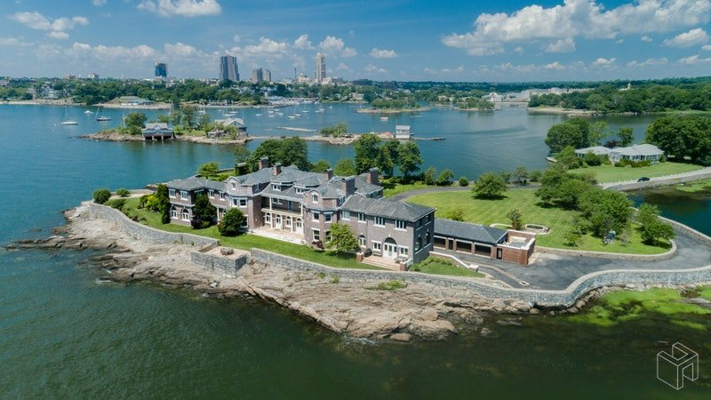 Stunning 35-room estate with a private beach is asking $19M just outside NYC
