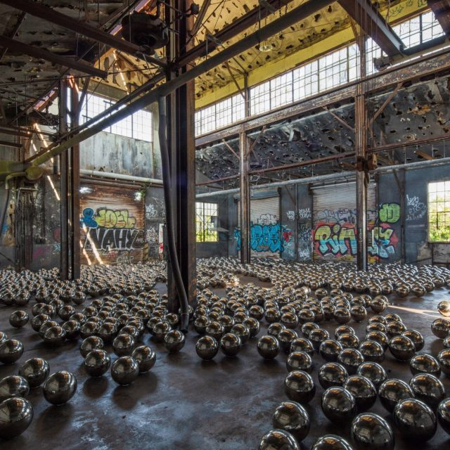 Check out artist Yayoi Kusama's installation in an abandoned Rockaway train garage